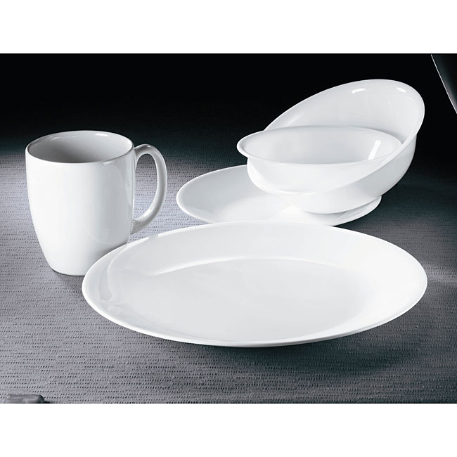 Corelle Winter Frost White 30 Piece Vitrelle Dinnerware