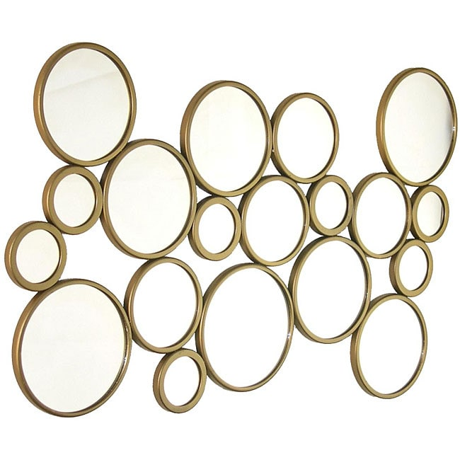 Abstract Bubbles Wall Mirror 12678088 Overstock Com