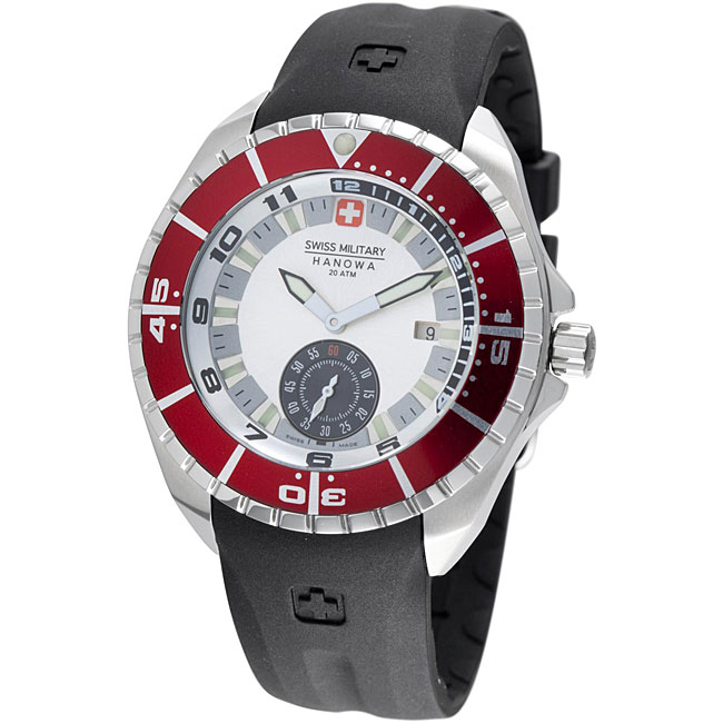Swiss Military Hanowa Men's 'Sealander' Red Bezel Rubber