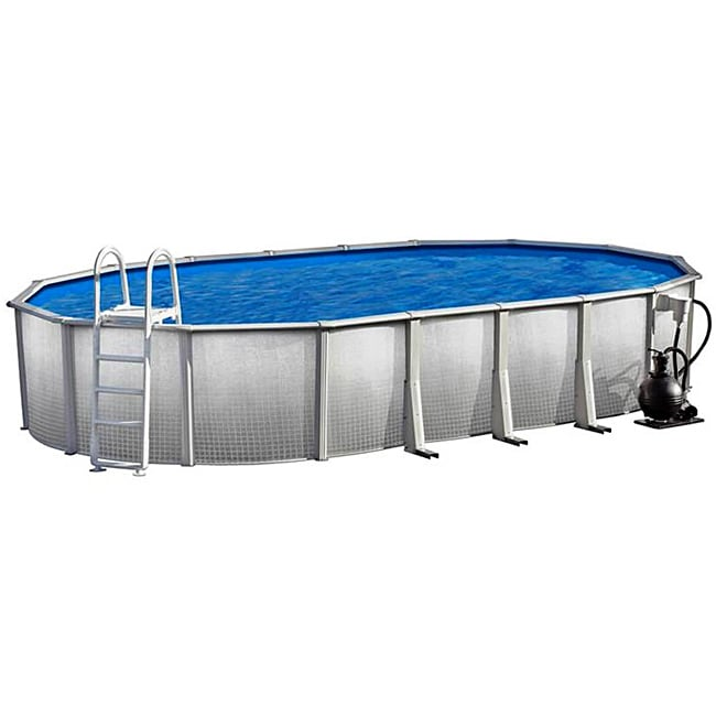 Discovery Above Ground 15x30 Foot Oval Swimming Pool