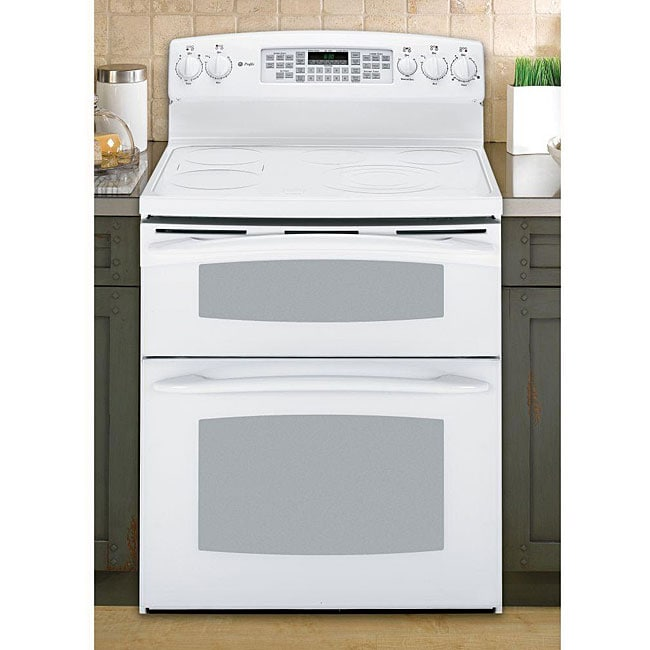 Double Oven Gas Range 30 Inch GE Profile White 30-inch Freestanding Electric Range ...