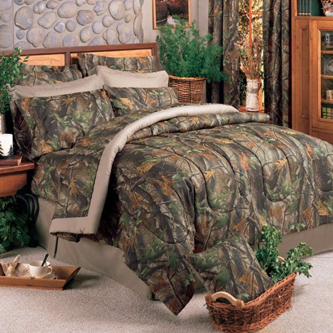 Camouflage Bedroom Sets: Camo Queen-size Bed In A Bag With Sheet Set