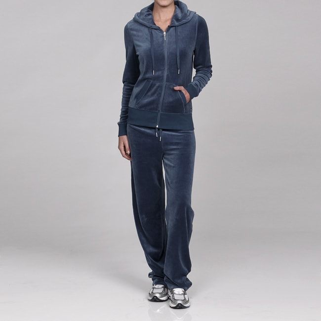 Calvin Klein Women S Velour Hooded Jacket And Pants Set