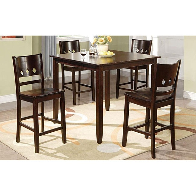 Discounted Dining Room Sets: Reezi Solid Wood Brown 5-piece Dining Room Set