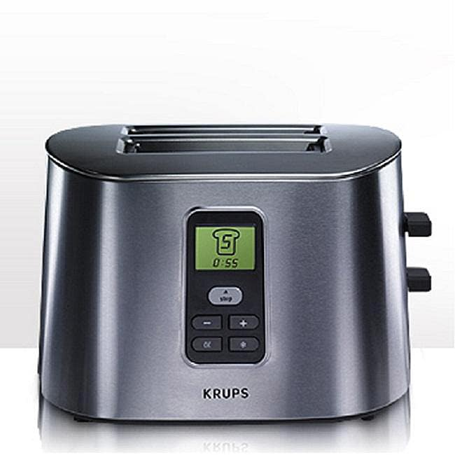 Krups TT6190 Brushed Stainless Steel 2-slice Digital