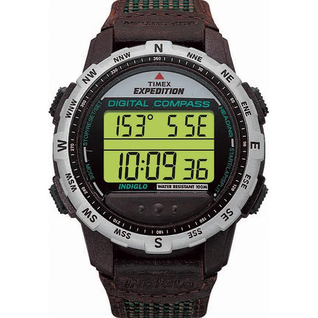 Men's Timex Expedition | Brown Strap Black Case | Outdoor ... |Timex Expedition Digital Watches Men