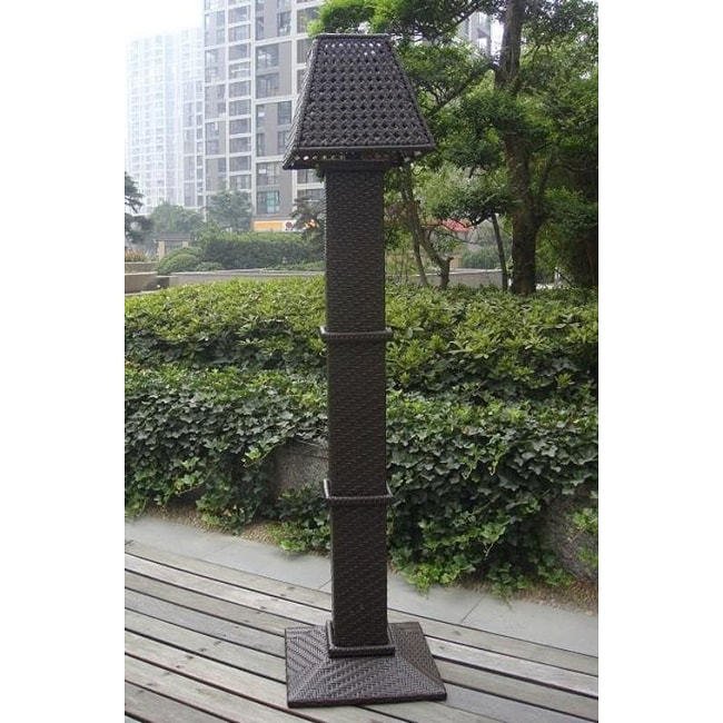All Weather Wicker Outdoor Solar Floor Lamp 12994231