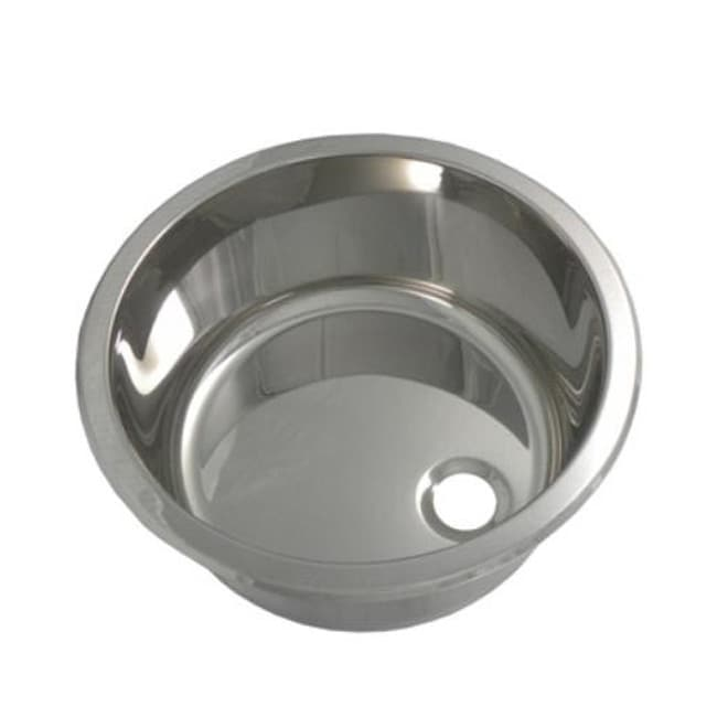 Portia 14 13 Inch Round Polished Stainless Steel Bar Sink