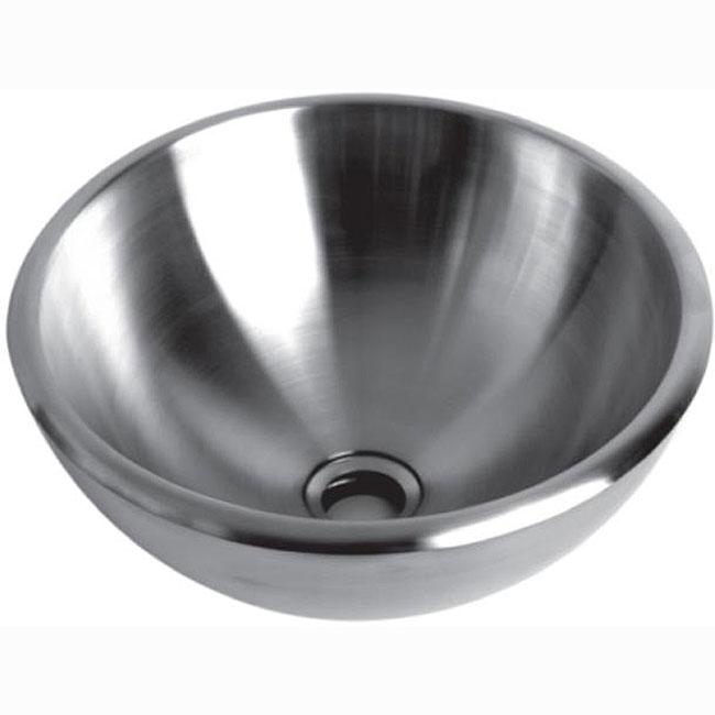 Brushed Stainless Steel Vessel Bathroom Sink 13039521