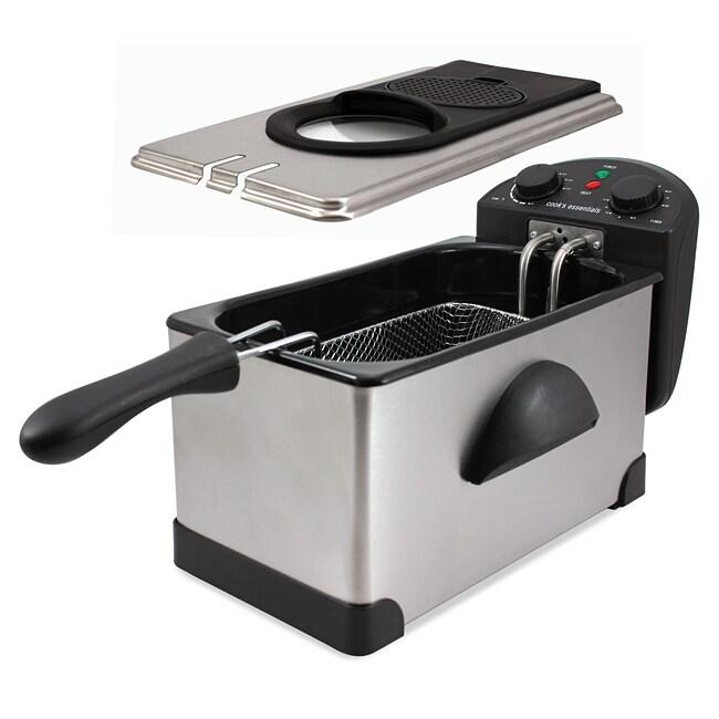 Cooks Essentials K23546 Heavy Duty 3 7 Quart Deep Fryer