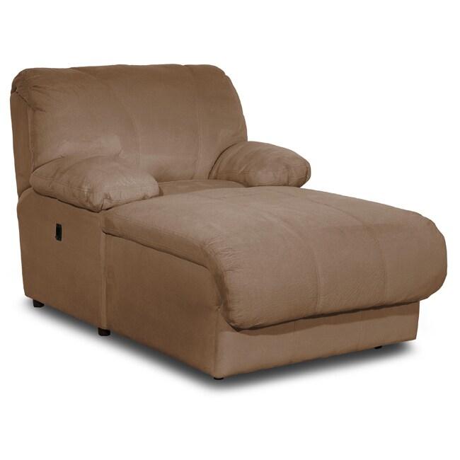 Brown Microfiber Pressback Chaise 13054593 Overstock