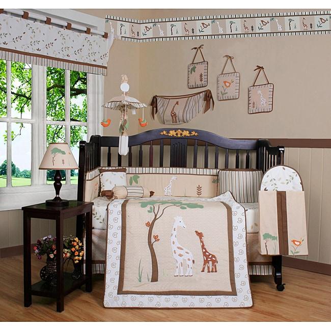 Giraffe Loving Family 13 Piece Crib Bedding Set 13059324