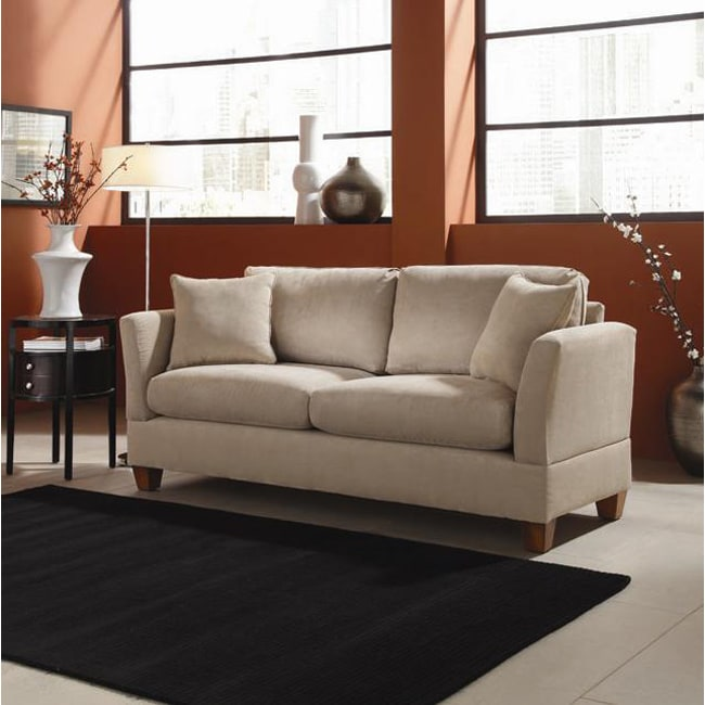 Best Priced Sofas: Microfiber Midsize Small Space 74-inch Sofa
