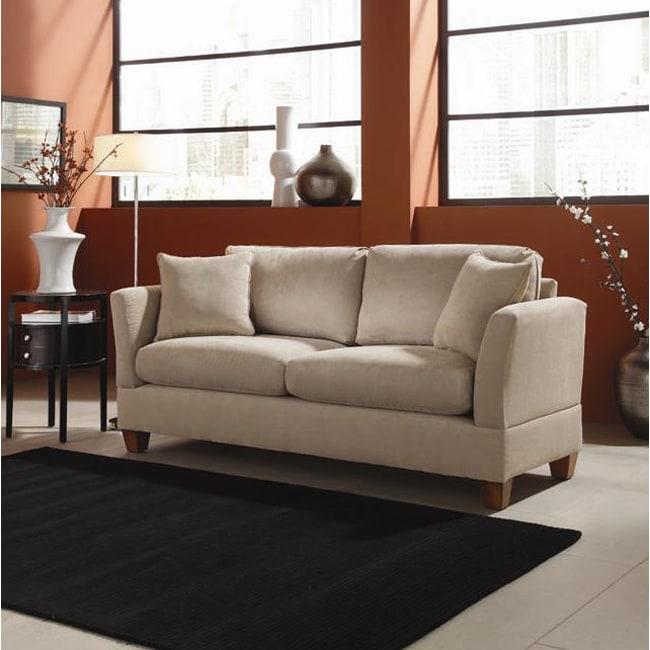 Microfiber Midsize Small Space 74 Inch Sofa 13101020
