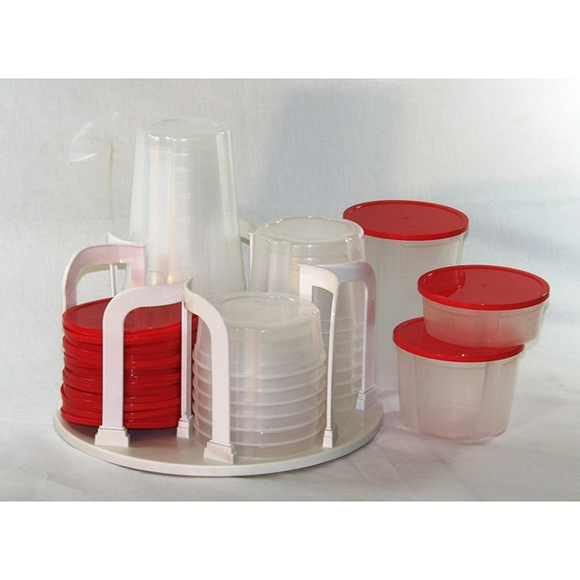 Kitchen Storage Containers For Sale: Plastic 49-piece Kitchen Containers With Carousel Rack