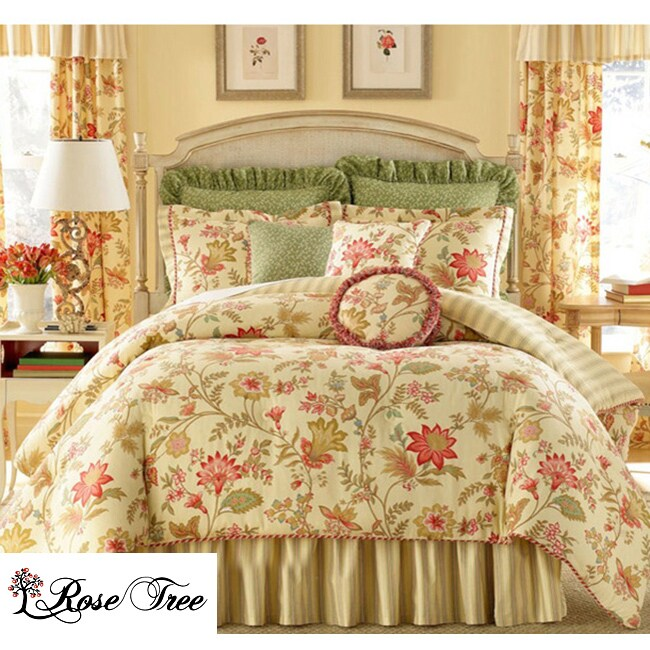 Rose Tree Pacific Floral King Size Comforter Set