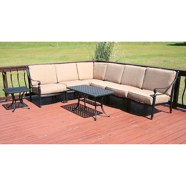 Overstocked Furniture: Savannah Classics Madrid Outdoor Black Aluminum Patio
