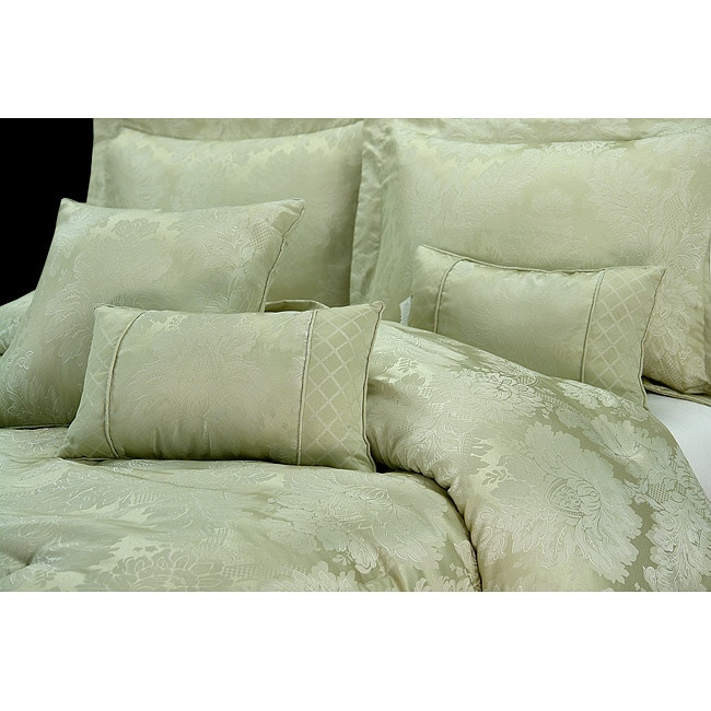 Verona Sage 7 Piece King Size Comforter Set 13278263