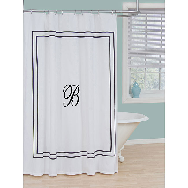 Monogram Polyester Shower Curtain