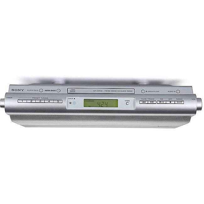 Kitchen Cabinet Radio Cd Player: Sony ICFCDK50 Under Cabinet Kitchen CD Clock Radio