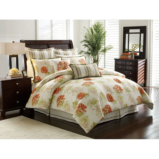 Tropical Vacation 4 Piece King Size Comforter Set