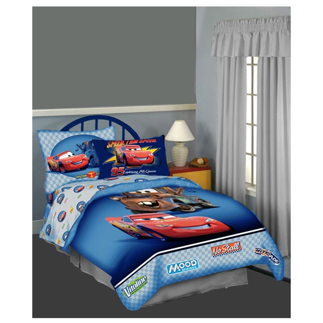 Disney Pixar Cars Twin Size 4 Piece Bed In A Bag