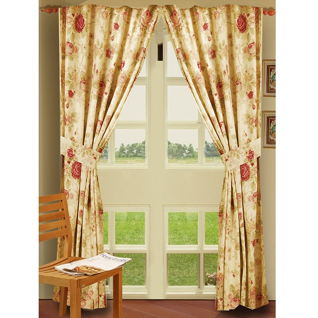 Greenland Home Fashions Antique Rose 84 Inch Curtain Panel