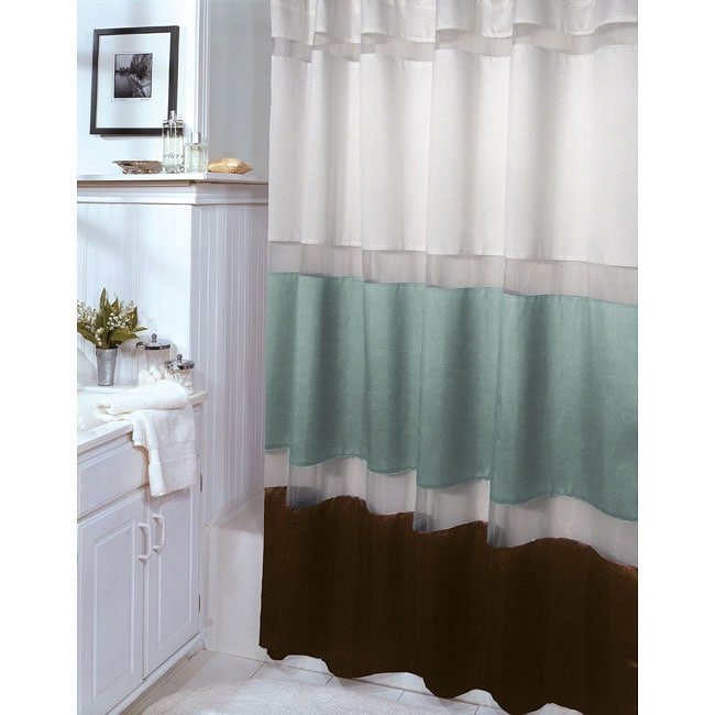 aqua and brown shower curtains modern home exteriors. Black Bedroom Furniture Sets. Home Design Ideas