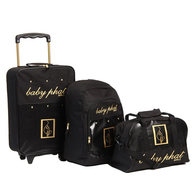 Baby Phat Pebble 3 Piece Luggage Set 13384008