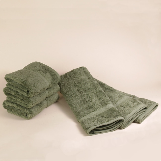Did Fieldcrest Towels Go Out Of Business: Fieldcrest Charisma Olive Green Hand Towels