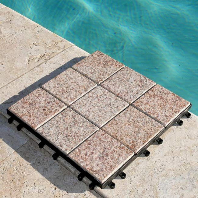 Jointstone Interlocking Sand Beige Granite Deck Tiles