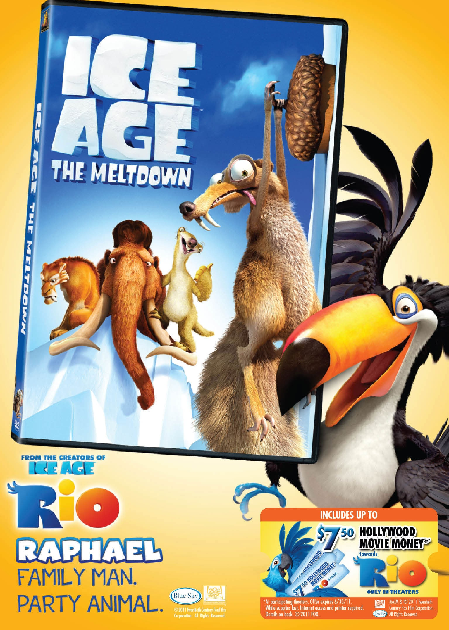 Ice Age The Meltdown Rio Face Plate Packaging Dvd On Popscreen