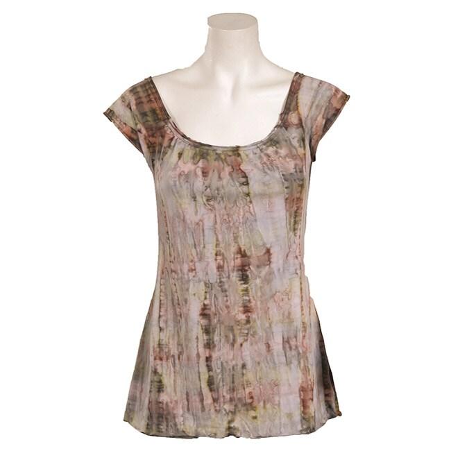 Ojai Clothing Womens Earth Tie Dye Yoga Top