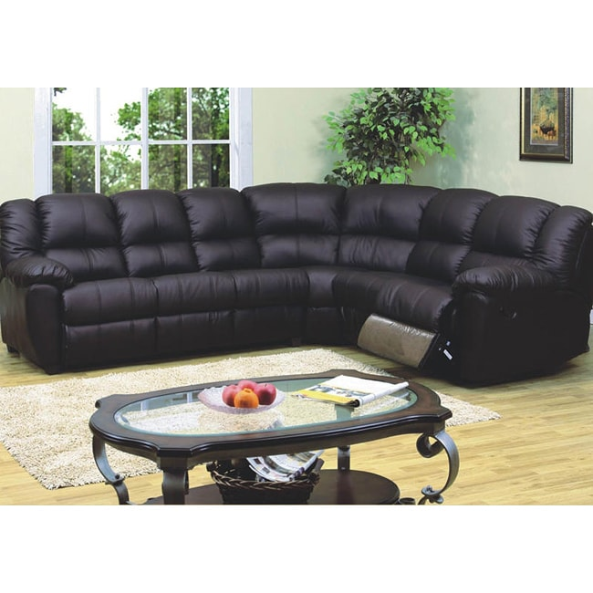 Leather Match Sofa: Black Leather Match Sleeper Sectional Sofa