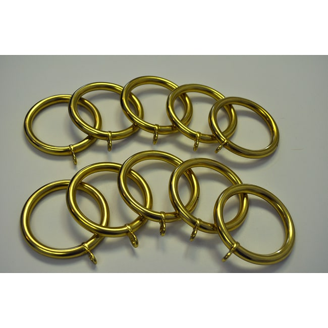 Solid Brass 2-inch Drapery Rings (Pack Of 10)