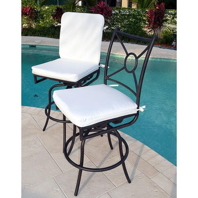 Comfort Care Cast Aluminum Outdoor Swivel Barstools (Set