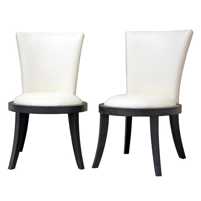 Neptune Off-White Leather Modern Dining Chair (Set Of 2