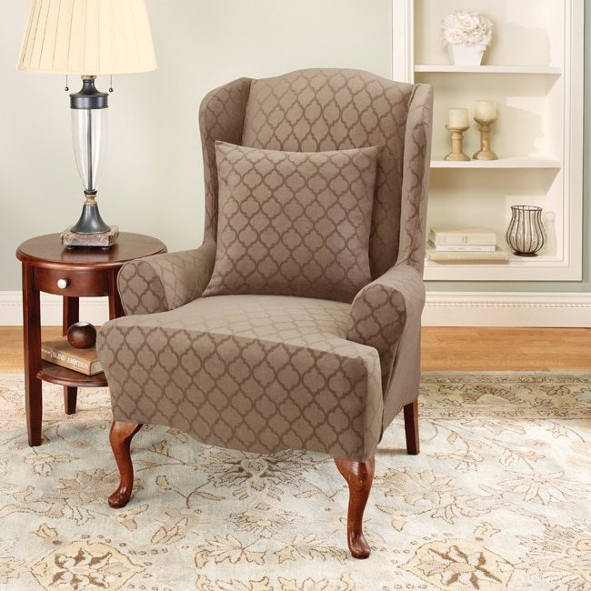 Sure Fit Stretch Marrakesh Wing Chair Slipcover 13676152