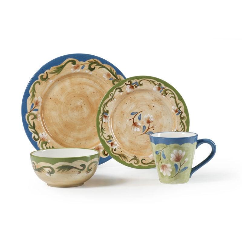 Pfaltzgraff Tuscany Floral 16 Piece Dinnerware Set