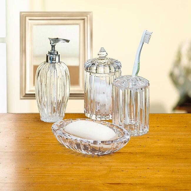 clear glass bathroom accessories. Black Bedroom Furniture Sets. Home Design Ideas