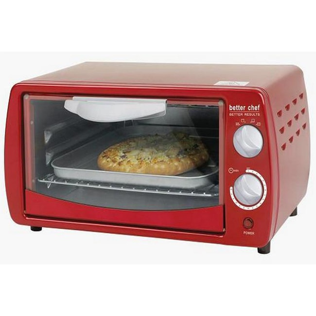 Better Chef Im268r Classic Red 9 Liter Toaster Oven
