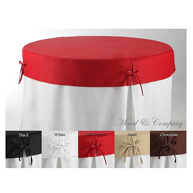 Betty Topper 48 Inch Round Fitted Tablecloth 13768387