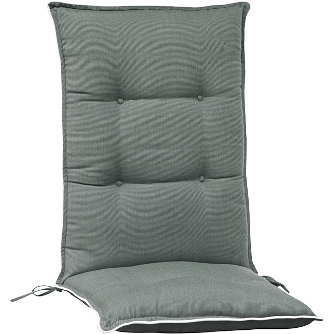 Light Charcoal High Back Patio Chair Cushions Set Of 2