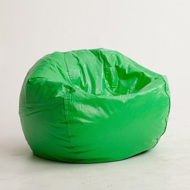 Beansack Lime Vinyl Green Bean Bag Chair 13907260