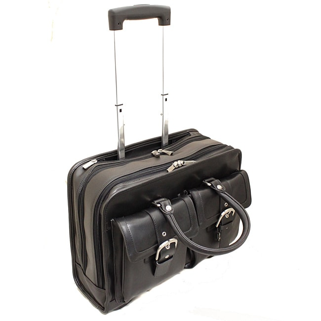 Franklin Covey Leather 15 4 Inch Rolling Laptop Case