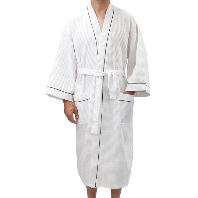 Leisureland Mens White Waffle Weave Spa Bath Robe on PopScreen 352e00c17