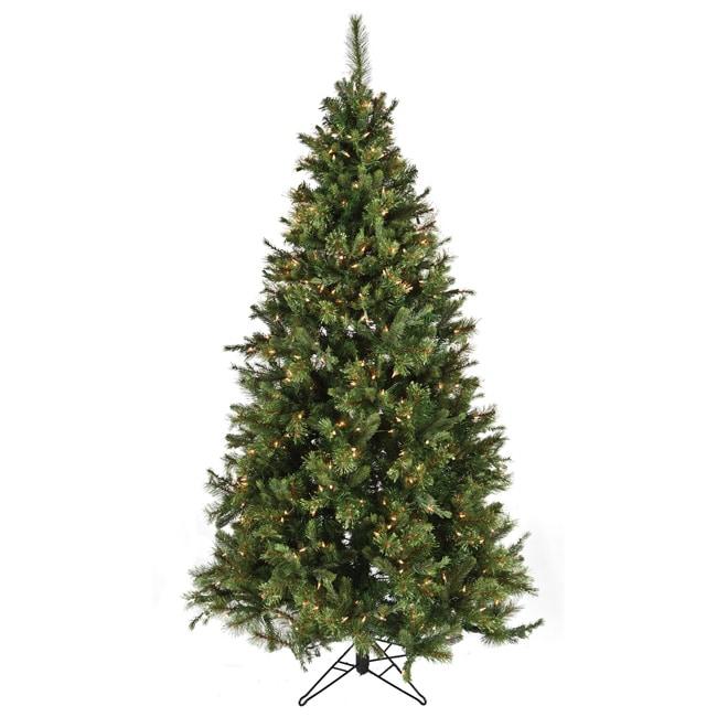 Christmas Tree Nordmann Fir: Good Tidings Nordmann Fir Blue 600 Clear Lights 7.5-foot