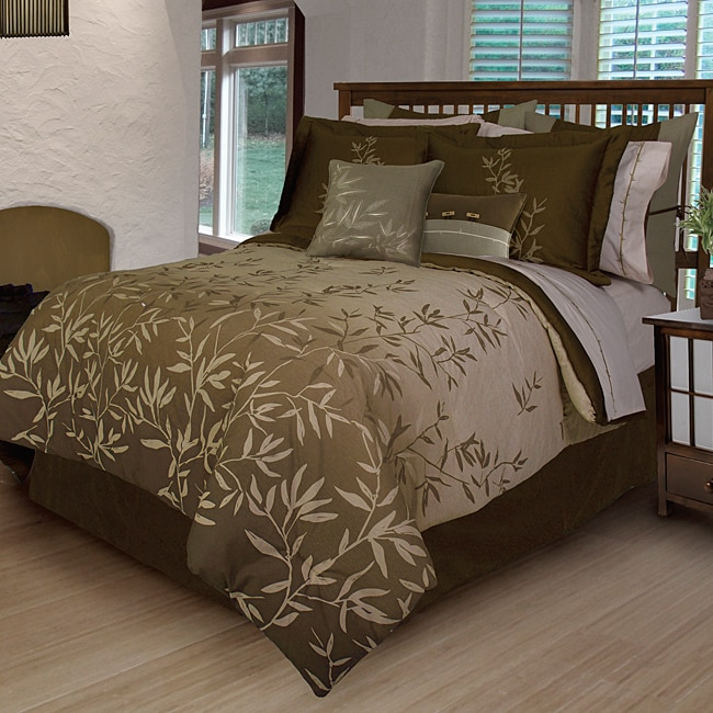 Bamboo Leaves 7 Piece King Size Duvet Cover Set 14030828