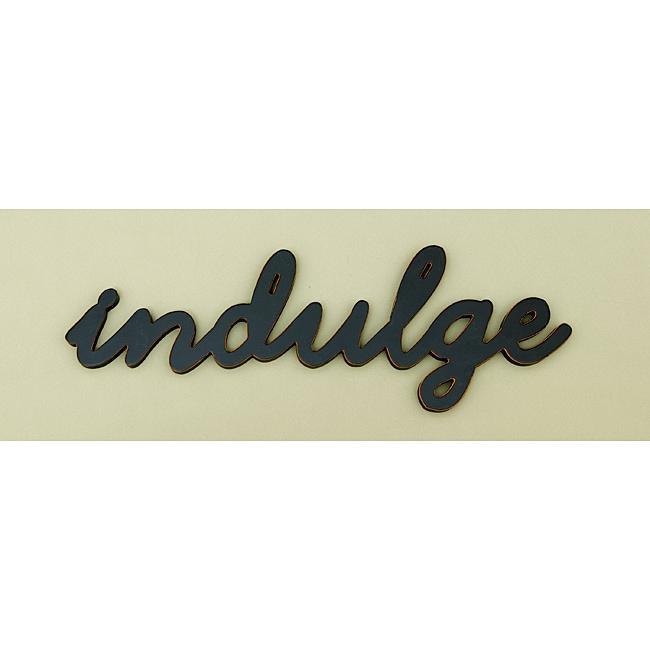 Indulge Wood Word Wall Art 14035429 Overstock Com