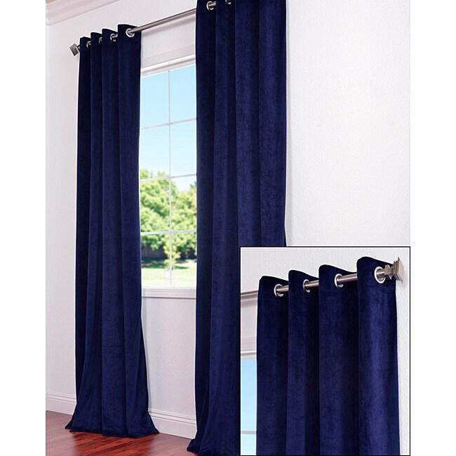 Exclusive Fabrics Signature Grommet Navy Blue Velvet 96